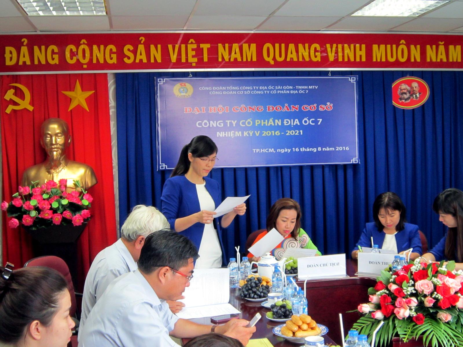 Đại hội Công đoàn Cơ sở nhiệm kỳ V (2016-2021)